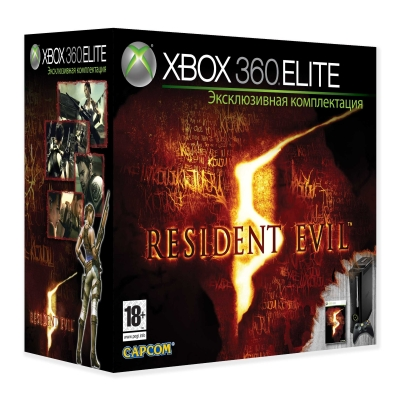 Игровая приставка Microsoft Xbox 360 Elite (120Gb) + игра: Resident Evil 5 - Microsoft Corporation; Китай 2009 г ; Модель: 52V-00061 инфо 10499k.